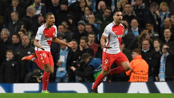 It's a familiar sight for AS Monaco fans this season -- their club's star players celebrating goals.