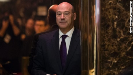 Gary Cohn, president of Goldman Sachs and President-elect Donald Trump's choice for Director of National Economic Council, arrives at Trump Tower, December 14, 2016 in New York City.