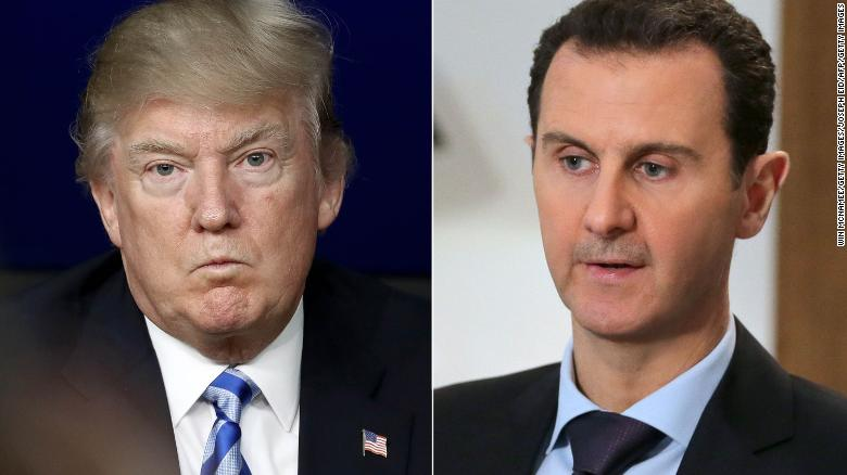 Trump warns of 'big price' for backing Assad