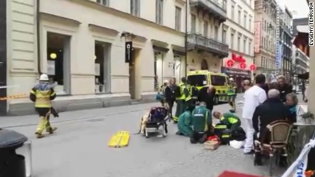 Video shows scene after Sweden attack