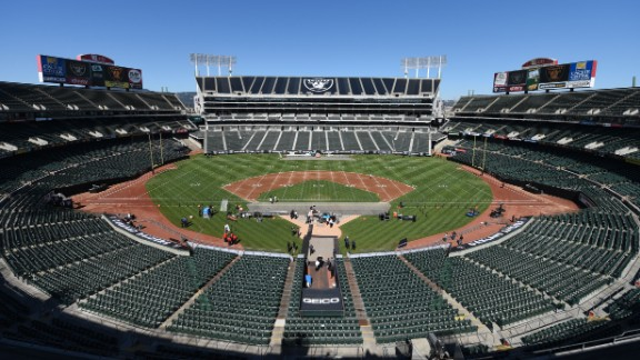 The 1960s ushered in multipurpose stadiums, which MLB teams commonly shared with NFL teams. The only one still in use is in northern California, where the Oakland-Alameda County Coliseum is used by MLB