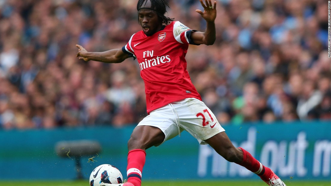 The Ivorian forward played for Arsenal between 2011 to 2013, scoring a total of nine goals.