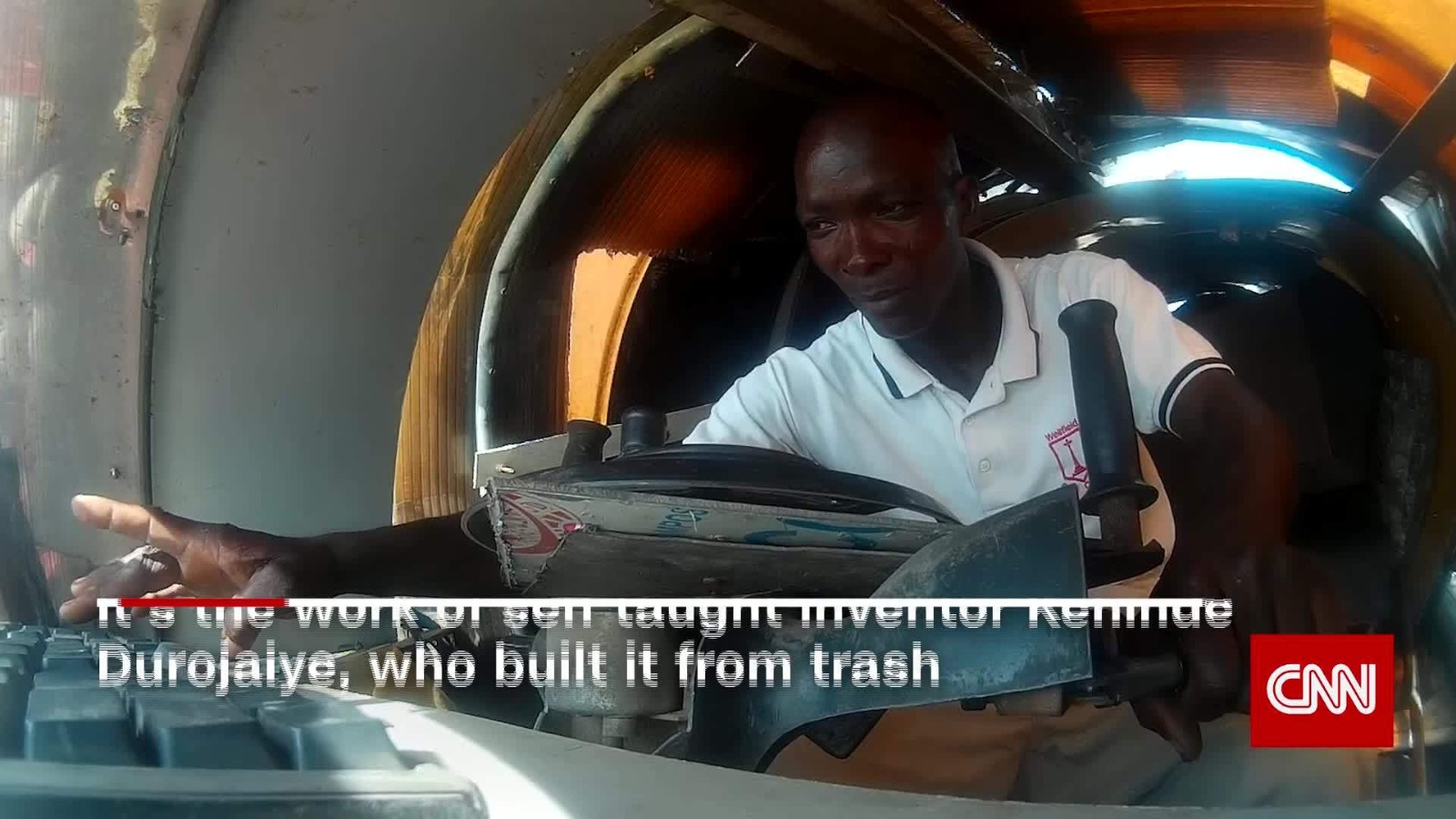 The Nigerian inventor building a jet car - CNN Video