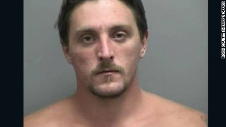 Joseph A. Jakubowski, 32, allegedly robbed the gun shop in Janesville, Wisconsin.