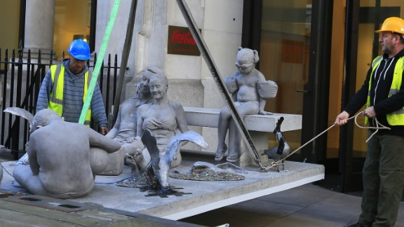 The sculpture was commissioned by activist group Greenpeace.