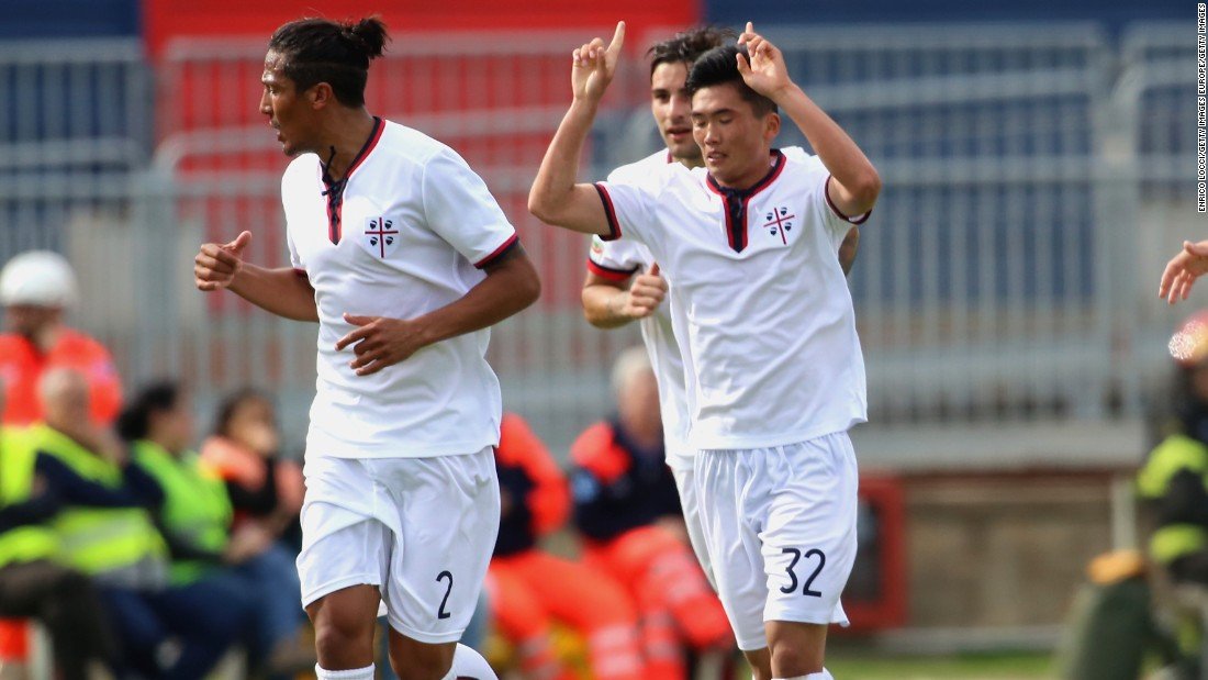 Han Kwang-Song of Cagliari is the first North Korean goalscorer in Serie A history.