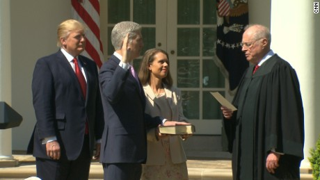 Neil Gorsuch takes Supreme Court oath