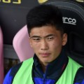 Kwang Song Han of Cagliari on the bench