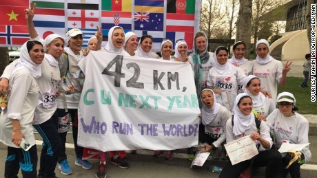 "Women held their own unofficial marathon after learning they could only participate in a 10km ""ladies run."""