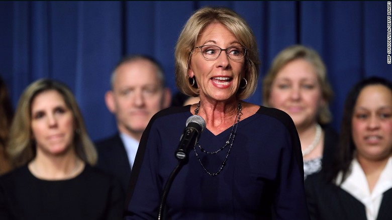 DeVos struggles with school safety specifics