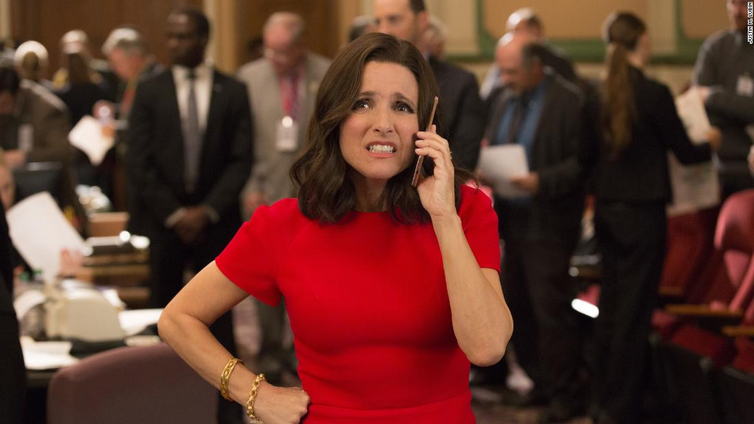 Julia Louis-Dreyfus stars as politician Selina Meyer in HBO's 'Veep.' The show earned 17 nominations, including one for outstanding comedy series.