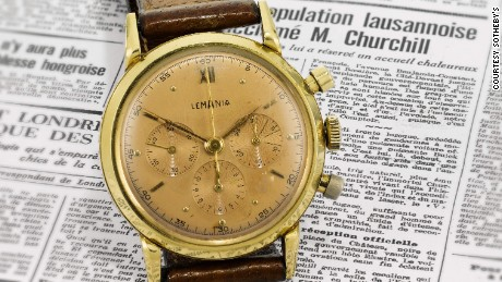 Winston Churchill's watch symbolizing 'peace and unity in Europe' to be sold