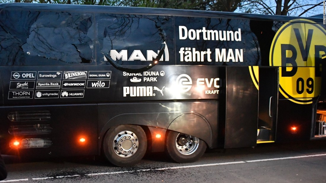 Dortmund's subdued start was understandable given that three explosive devices shattered windows and injured a player on the team bus as the German squad was en route to its home Champions League quarterfinal against AS Monaco Tuesday.