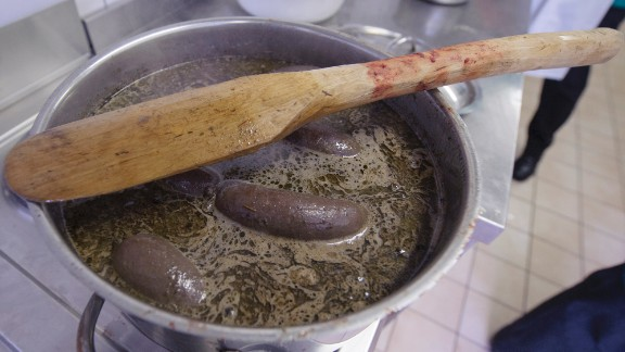 """Estonian blood sausage is a popular dish for Christmas. Many cultures have similar dishes. In Poland, it's made from pork or beef and is <a href=""""http://www.cnn.com/2014/11/10/travel/europe-sausages/"""">called kiszka</a>. In Spain, it's morcilla. England has its black pudding, France its boudin noir and Uruguay its morcilla dulce. Blood sausage is a good source of iron but high in fat and salt."""