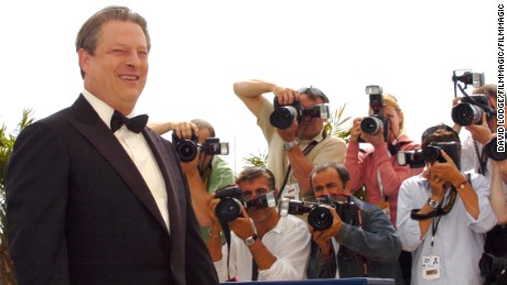 "Al Gore at the 2006 Cannes Film Festival - ""An Inconvenient Truth"" Photocall at Palais du Festival Terrace in Cannes.  (Photo by David Lodge/FilmMagic)"