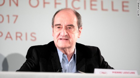 Pierre Lescure, president of the Cannes Film Festival.