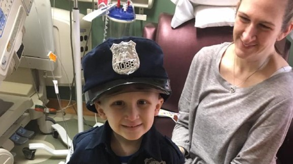Nolan told his mother he wanted to be remembered as a policeman.