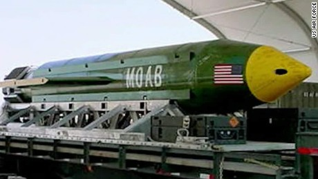 US drops most powerful non-nuclear bomb