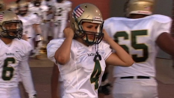 Becca Longo, a high school senior in Arizona, began playing football competitively as a sophomore.