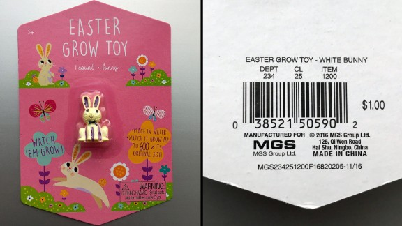 Easter Grow toys with model number 234-25-1200 are recalled.