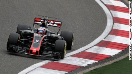 Romain Grosjean finished fifth at last year's Bahrain Grand Prix but has yet to score a point in 2017.
