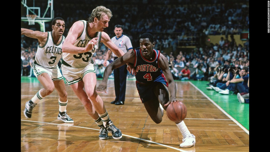 Joe Dumars played with Rodman on the Detroit Pistons team that won back-to-back titles in 1989 and 1990. Dumars made six All-Star teams during his Hall of Fame career. Not bad for a guy taken 18th overall out of McNeese State.