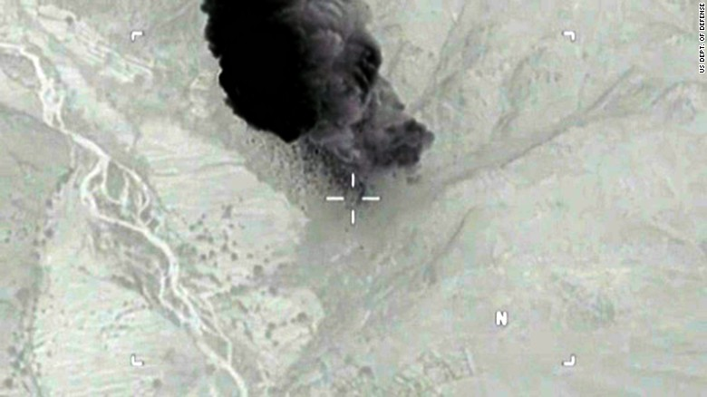 Watch: Moment 'mother of all bombs' explodes