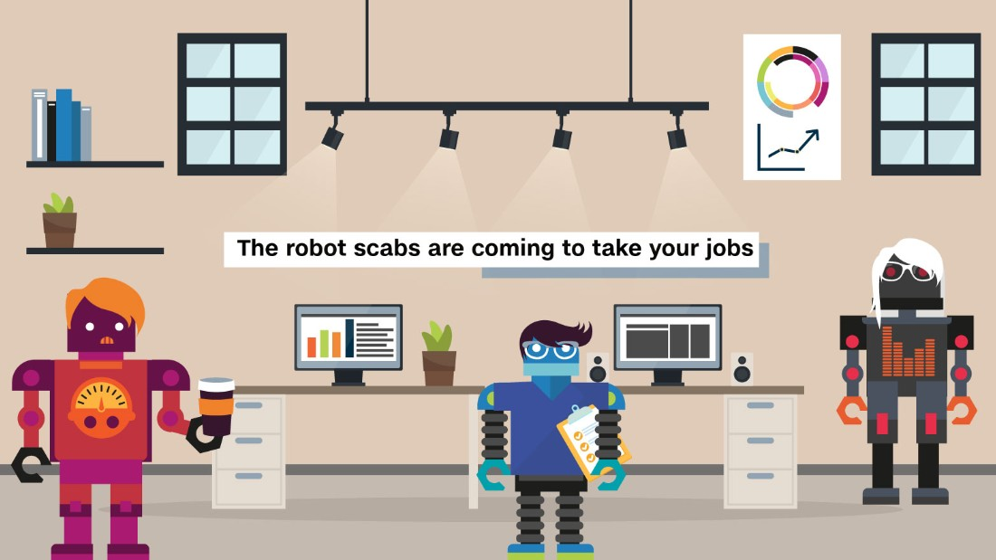 will robots take your job A recent headline from business insider suggests that machines may replace  half of human jobs4 before your anxiety rises to uncomfortable.