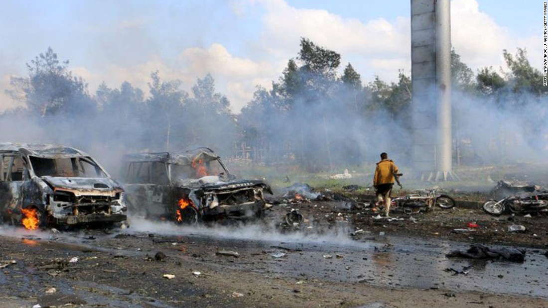 Syria: 126 killed as bomb hits buses with evacuees, group says