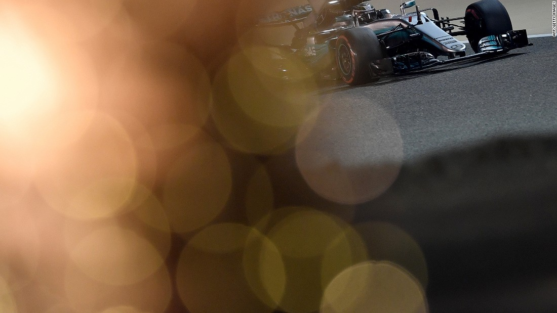 Lewis Hamilton's new Mercedes teammate Valtteri Bottas on track in Bahrain.