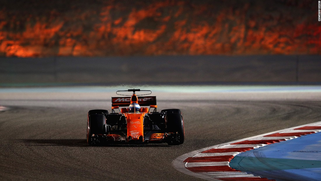 McLaren driver Fernando Alonso on track in Bahrain. The Spaniard announced this week that he will miss this year's Monaco Grand Prix to compete at the Indianapolis 500 on May 28.