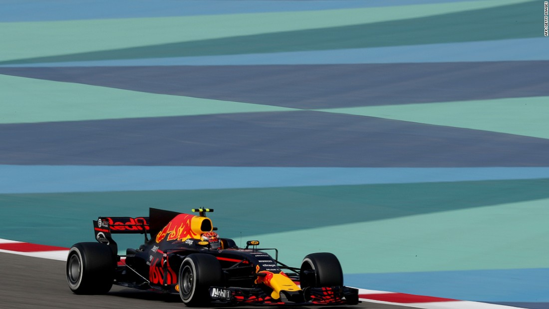 Max Verstappen on track during Saturday's practice session.