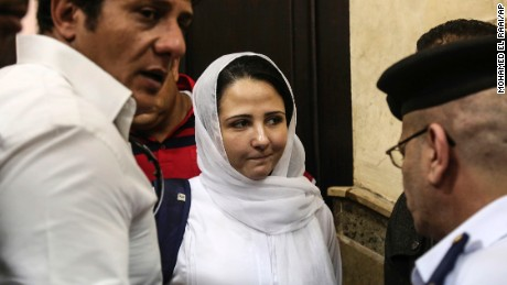 Aya Hijazi was acquitted Sunday by an Egyptian court after nearly three years of detention.