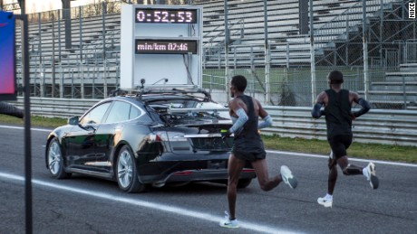 Nike half-marathon trial in Monza, Italy in March 2017.