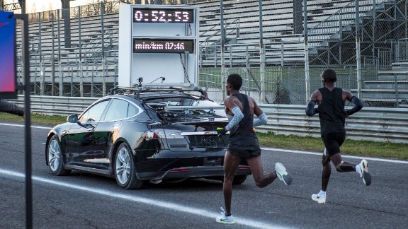 Nike half-marathon trial in Monza, Italy in March 2017.