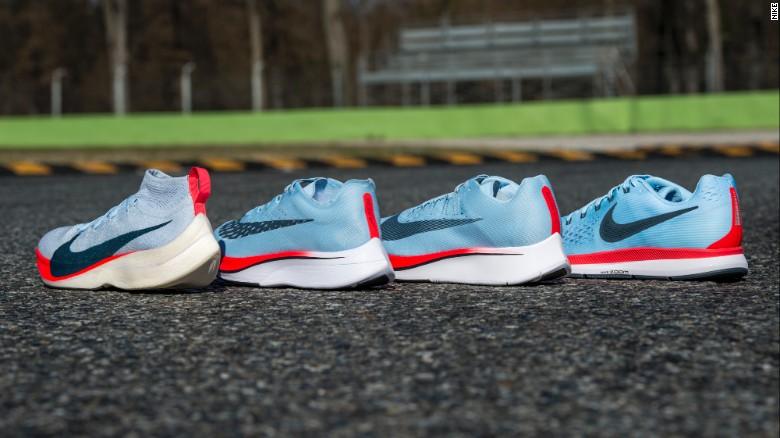 The Nike Zoom Vaporfly Elite shoe.