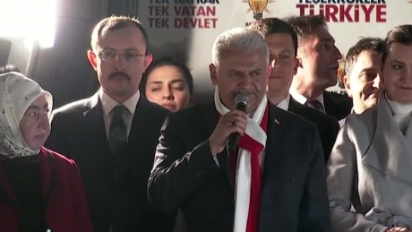 Turkish PM thanks voters after referendum