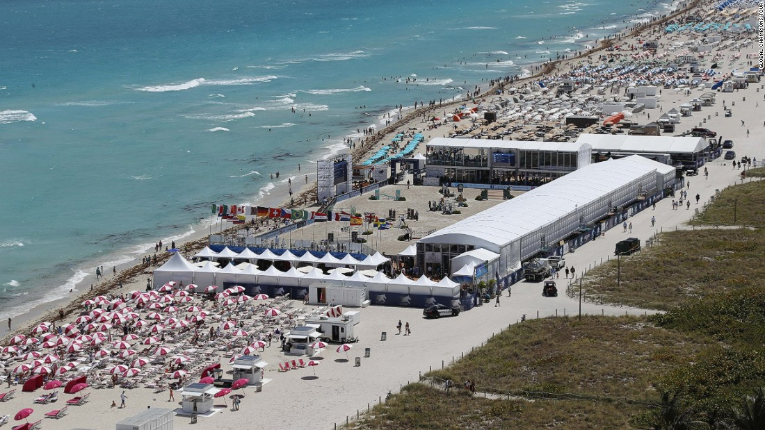 Miami Beach provided a perfect setting for the cream of equestrian riders to compete in the Global Champions Tour.