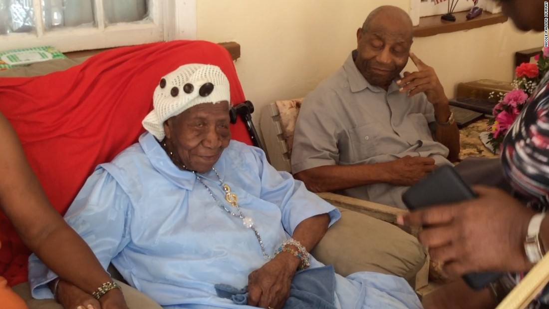 "Violet Mosse-Brown, 117, is the current oldest person in the world. She grew up in Jamaica, born <a href=""http://www.cnn.com/2017/04/17/health/worlds-oldest-woman-trnd/"">67 years before</a> the country was founded, and said she earned that title by avoiding rum and through her ""faith in serving God."" The music teacher and church organist still keeps her mind active, keeping the records for the local cemetery."