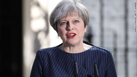 LONDON, ENGLAND - APRIL 18:  Prime Minister Theresa May makes a statement to the nation in Downing Street on April 18, 2017 in London, United Kingdom. The Prime Minister has called a general election for the United Kingdom to be held on June 8, the last election was held in 2015 with a Conservative party majority win.  (Photo by Dan Kitwood/Getty Images)
