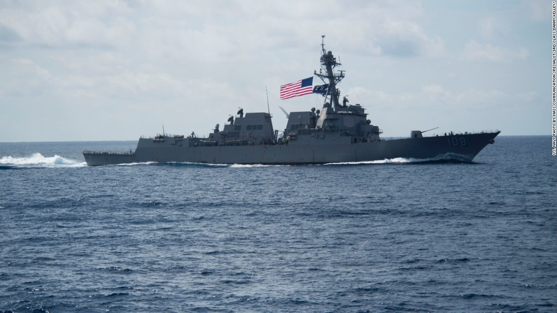 US Navy warship challenges Chinese claims in the South China Sea