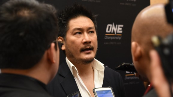 ONE Championship founder and chairman Chatri Sityodtong talks to reporters during the Asia MMA Summit 2016 in Singapore on September 22, 2016.  Mixed martial arts organisations from Singapore and Indonesia have signed an agreement to promote the fight sports scene in Southeast Asia, the groups said on September 22. / AFP / ROSLAN RAHMAN        (Photo credit should read ROSLAN RAHMAN/AFP/Getty Images)