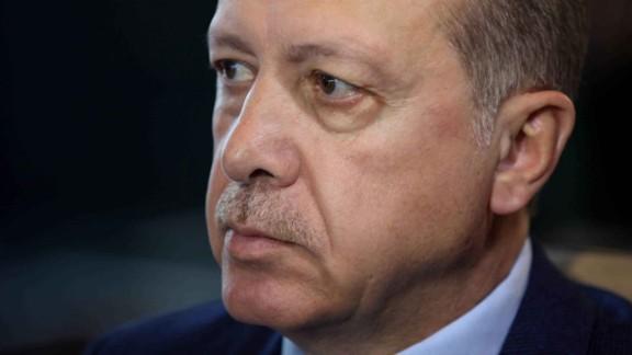 CNN's Becky Anderson interviews Turkish President Recep Tayyip Erdogan at the Presidential Palace in Ankara, Turkey, on Tuesday, April 18, 2017.