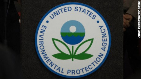 The EPA logo on display.