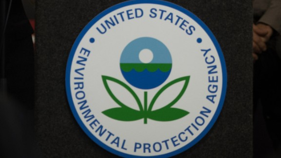 The EPA logo on display.