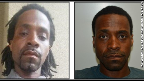 Police released pictures of Kori Ali Muhammad, 39, an earlier one on the left, and after his Tuesday arrest on the right.
