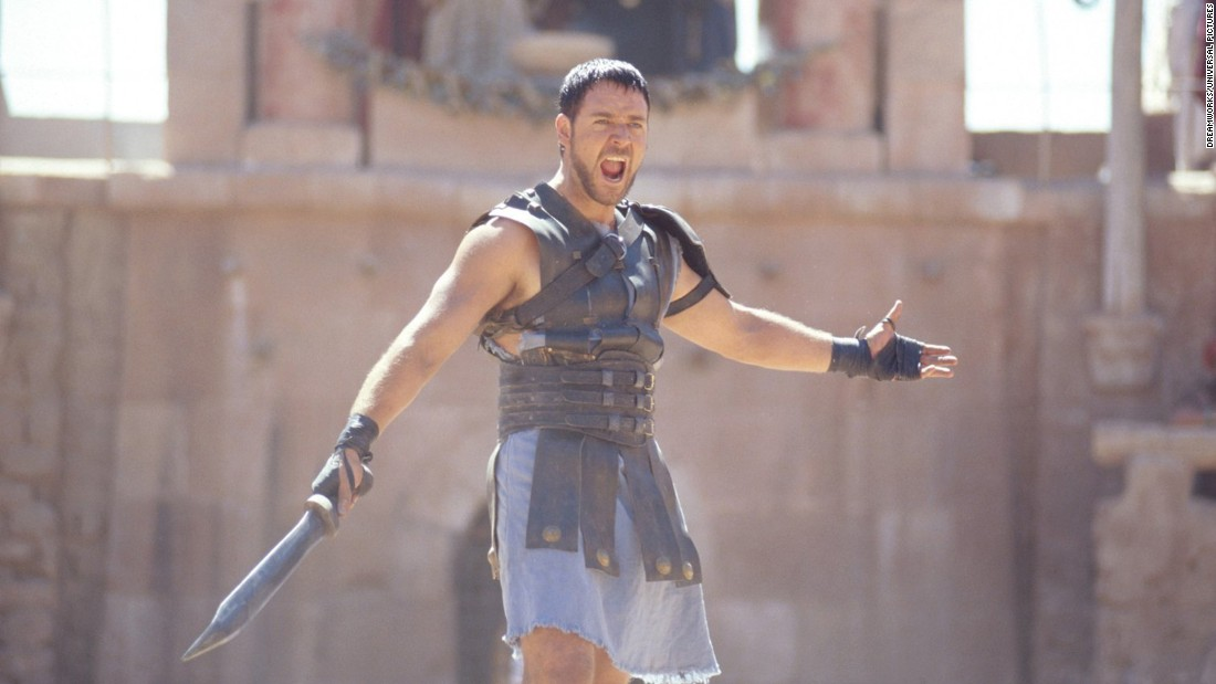 "<strong>""Gladiator"": </strong>Russell Crowe stars as a betrayed Roman general who seeks revenge. <strong>(Hulu) </strong>"