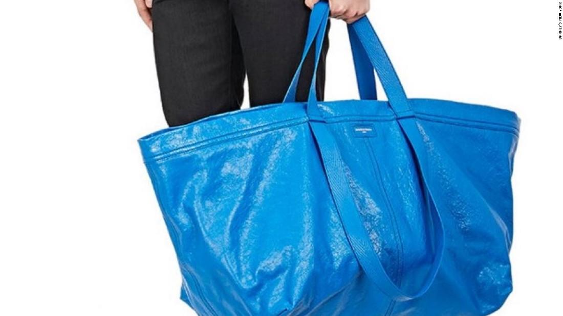 Balenciaga S 2 145 Bag Is Just Like Ikea S 99 Cent Tote Cnn
