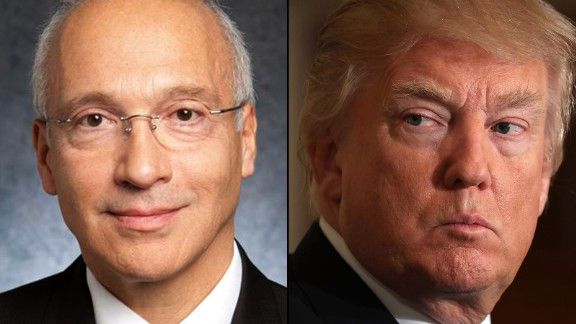 Judge Gonzalo P. Curiel and President Donnald Trump