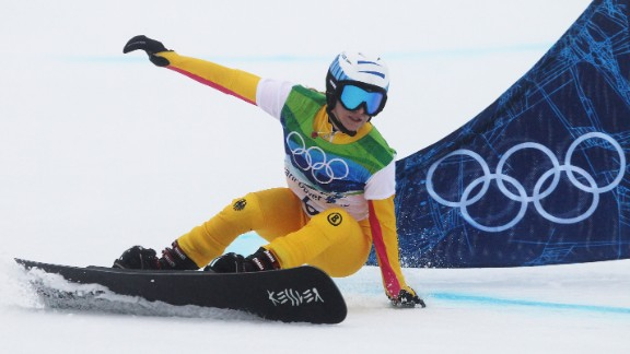 Snowboarding champion Amelie Kober represented Germany at the Turin Games of 2006. She was two months pregnant at the time. Despite falling in the quarterfinals, she picked herself up to continue and won a silver medal.